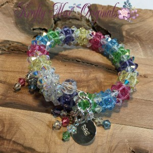 Spring Beadwoven Springwire Swarovski Crystal Bracelet 3