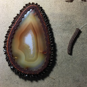 brown agate slice working 15