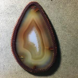 brown agate slice working 6