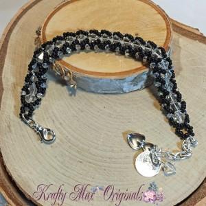 Black and White BeadALong Bracelet 1 2