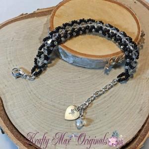 Black and White BeadALong Bracelet 2 2