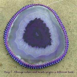 Purple Agate Slice wrk 7
