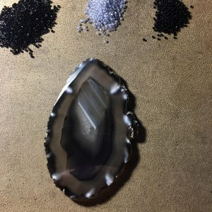 Black and WHite Agate Slice WRK 1