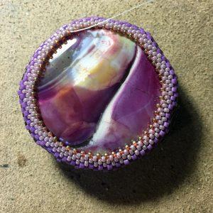 Mixed stone beadwoven wrk 5