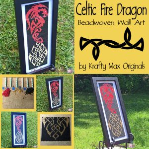 Celtic Dragon Beadwoven Wall Art copy