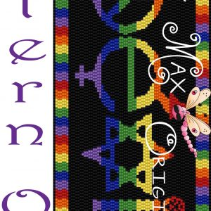 Coexist Beadwoven Wall Art – Pattern ONLY