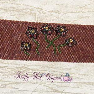 I Wear Flowers Beadwoven Bracelet 2