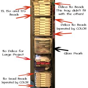 Seed Bead Storage with Tags copy