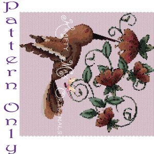 Hummingbird Wall Art with Flowers – PATTERN ONLY