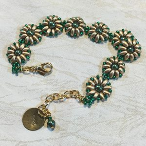 green and gold class bracelet
