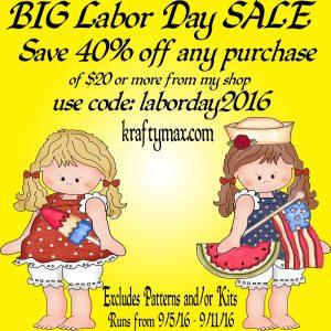 Big Labor Day Sale 2016
