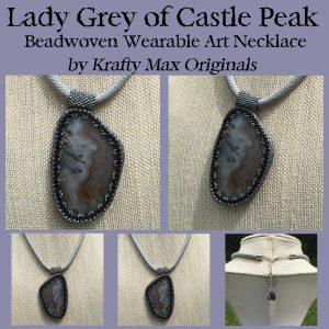 Lady Grey of Castle Peak Wearable Beadwoven Necklace
