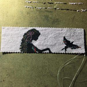 lady with bird 73 5402