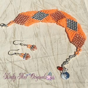 orange-and-silver-diamond-duo-bracelet-and-earrings-set-3