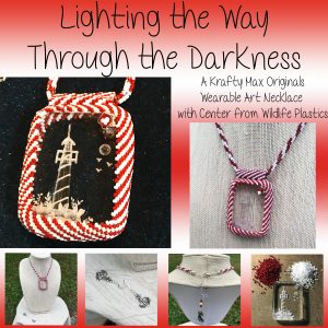 Lighting Your Way Through the Darkness Wearable Art Lighthouse Necklace Set