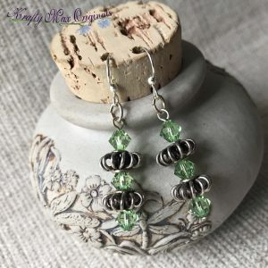 Green Swarovski Crystals Bold Earrings