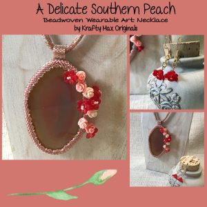 A Delicate Southern Peach Wearable Art Necklace Set