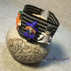 Halloween Girl Costume-Dress Up Beadwoven Button Bracelet