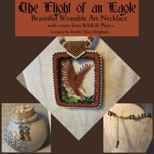 The Flight of an Eagle Wearable Art Set with Center from Wildlife Plastics