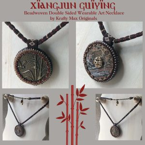 Xiangjun Guiying Beadwoven Double Sided Wearable Art Necklace