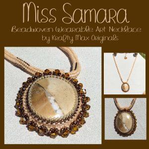 Miss Samara Beadwoven Wearable Art Necklace