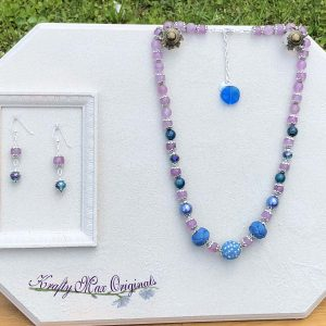 Purple and Blue Necklace Set with Beads from Jessie James Beads
