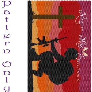 Soldiers Prayer at Sunset Wall Art RETAIL ONLY – PATTERN ONLY