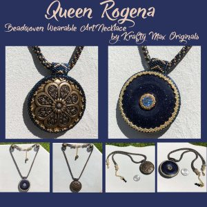 Queen Rogena Beadwoven Wearable Art Necklace