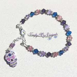 Sugar Skull Swarovski Crystal Bracelet