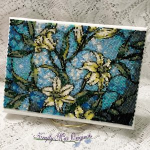 Stained Glass Lily's 5×7 Beadwoven Wall Art Sample (May Kit)