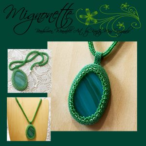 Mignonette Beadwoven Wearable Art Necklace