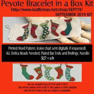 SEPTEMBER Stockings Beadwoven Bracelet in a Box Kit 2019