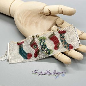 Stocking Hung in a Line Beadwoven Bracelet Kit Version