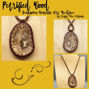 Petrified Wood Beadwoven Wearable Art Necklace