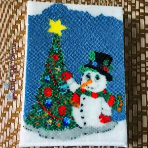 Snowman and Tree August 5×7 Art in a Bag Kit Sample