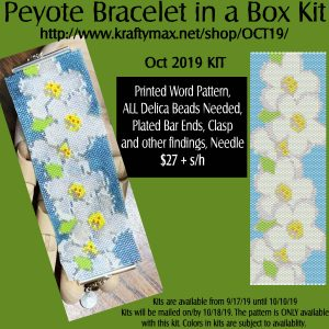 OCTOBER Floating Daisy's Beadwoven Bracelet in a Box Kit 2019