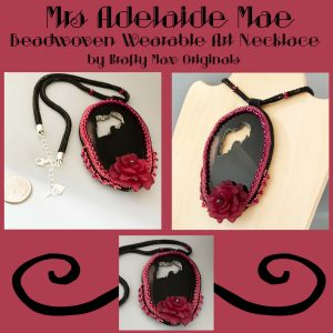 Mrs Adelaide Mae Beadwoven Wearable Art Necklace