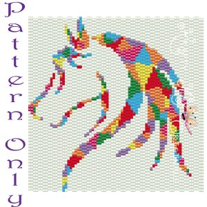 Patchwork Rainbow 4×4 Horse PATTERN ONLY