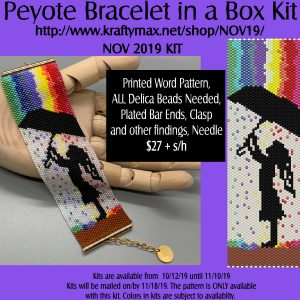 November Rainbow Rain Beadwoven Bracelet in a Box Kit 2019