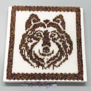 Wolf Beadwoven 4×4 Artwork