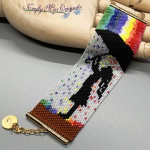 Rainbow in the Rain Beadwoven Bracelet from Nov Kit