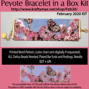 February 2020 Spring Butterfly Bracelet Kit in a Box