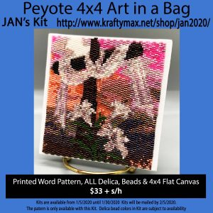 January 2020 Cross and Lily's 4×4 Art Kit in a Bag