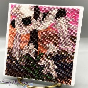 Easter Cross 4×4 Beadwoven Art – Sample for January 2020 Kit