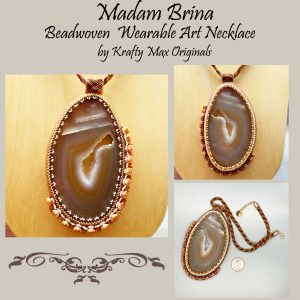 Madam Brina Beadwoven Wearable Art Necklace