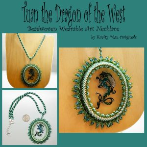Tuan the Dragon of the West Beadwoven Wearable Necklace