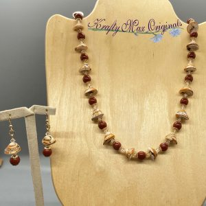 Shells Swarovski Crystal and Gemstones Necklace Set