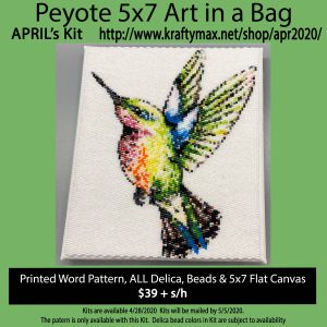 April 2020 Hummingbird 5x7Art Kit in a Bag