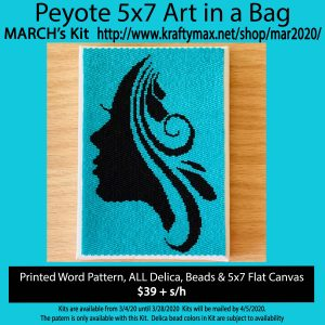 March 2020 Silhouette 5x7Art Kit in a Bag