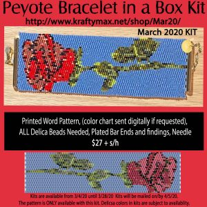 March 2020 Rose Bracelet Kit in a Box